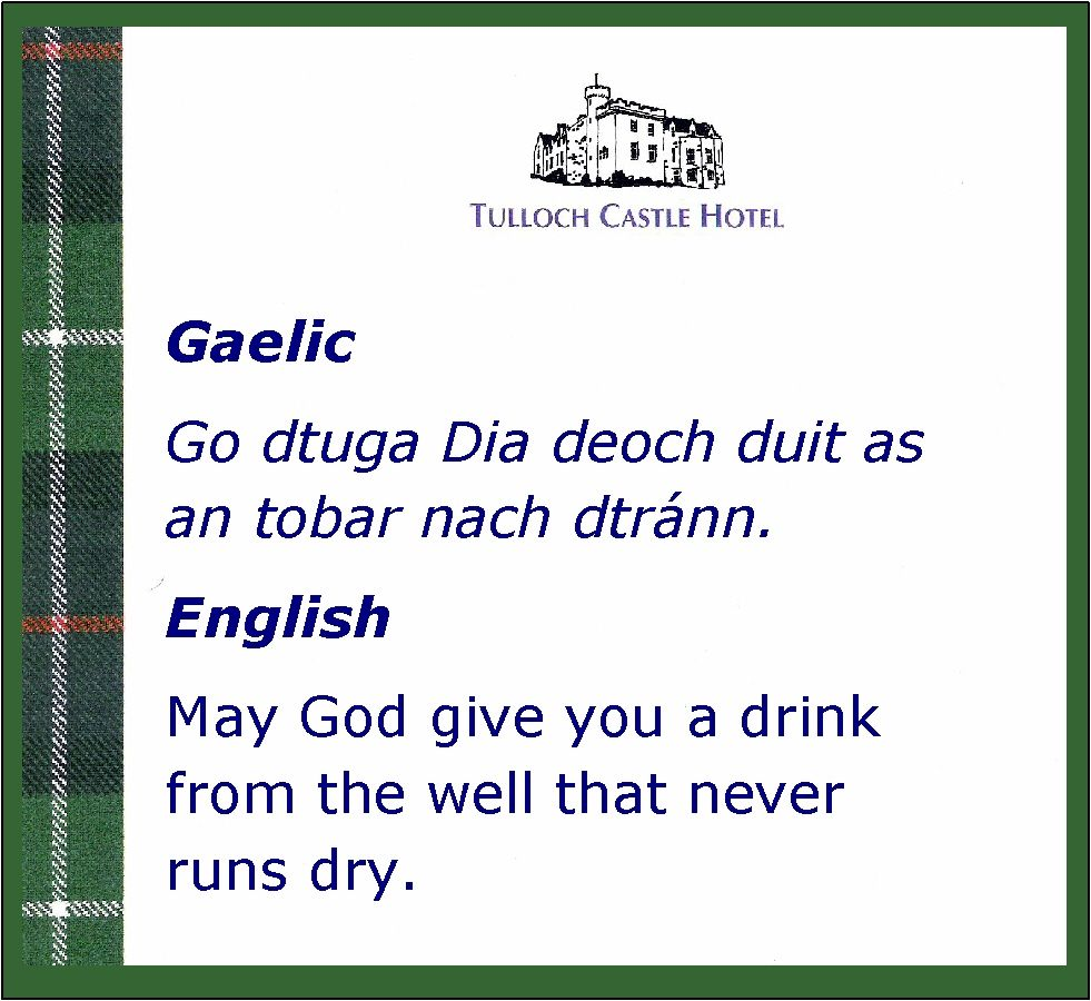 A Scottish Proverb In Gaelic And English I Love This One Http