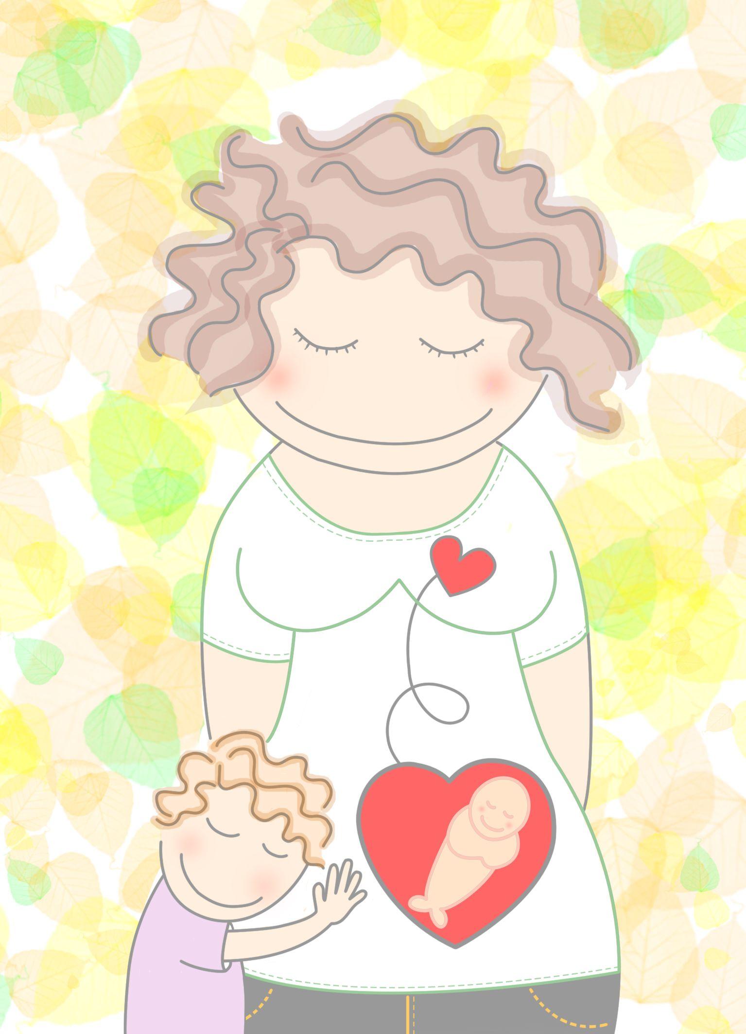 Pin De Patricia Flores En Mamasiempre Dia Del Nino Ilustraciones Embarazo Divertido