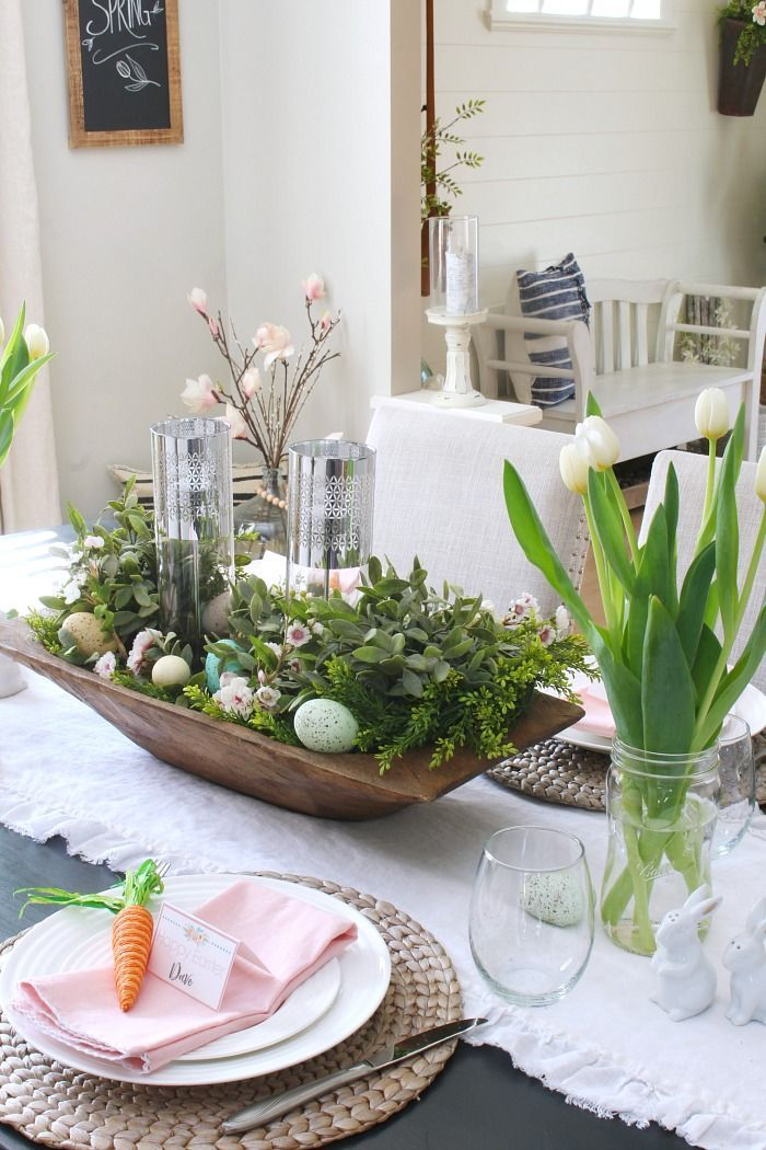 Spring Home Tour With Lots Of Spring Decorating Ideas And Free Printables Springdecor Farmh Dining Room Centerpiece Spring Decor Beautiful Dining Room Table