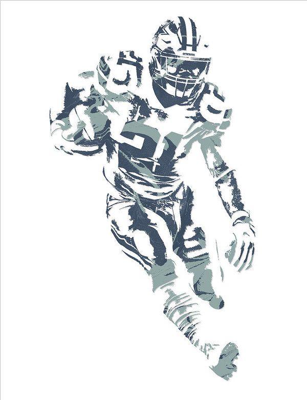 Ezekiel Elliott Dallas Cowboys Pixel Art 27 Art Print by Joe Hamilton f00bde4fc