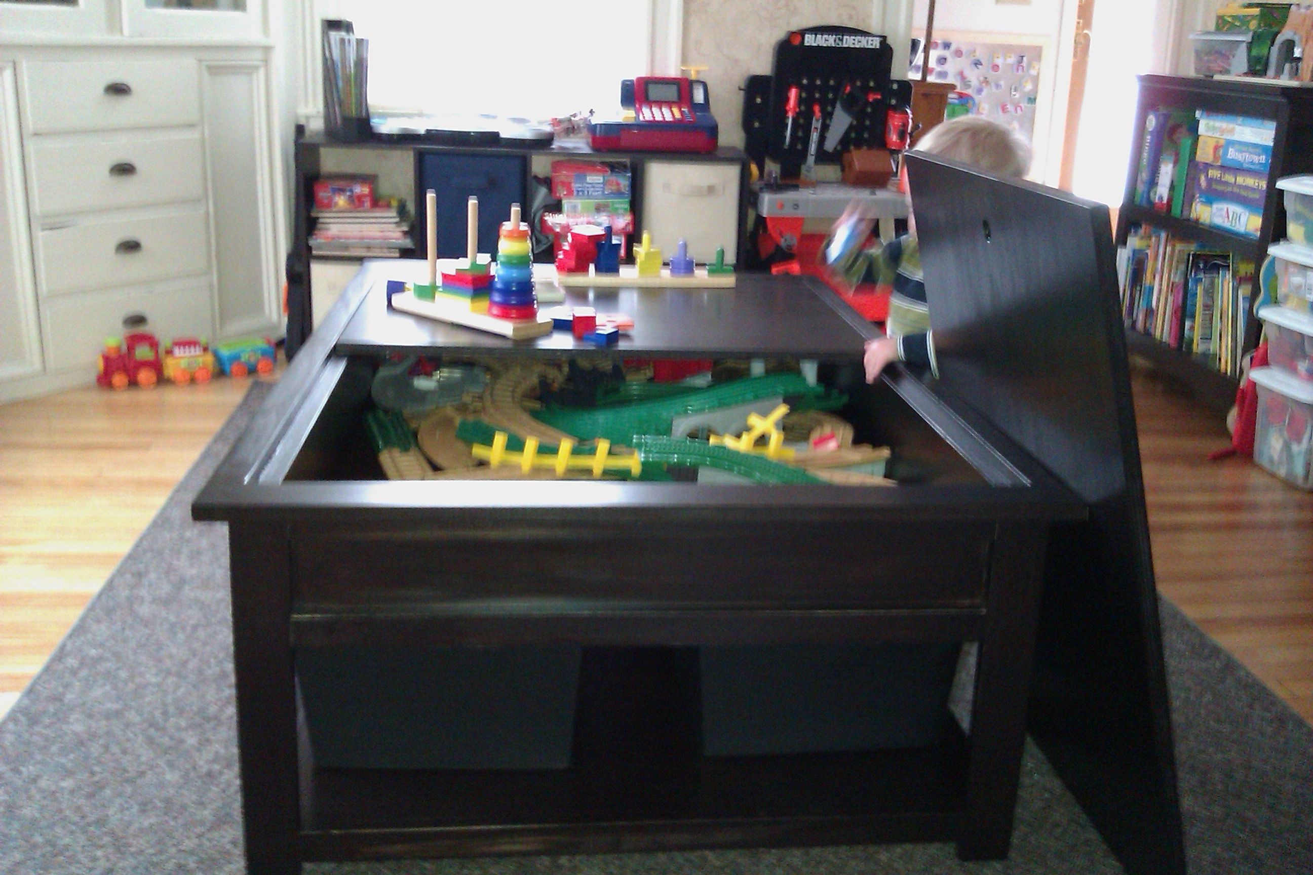 Train Table - GORGEOUS - Just like lego table but larger ...
