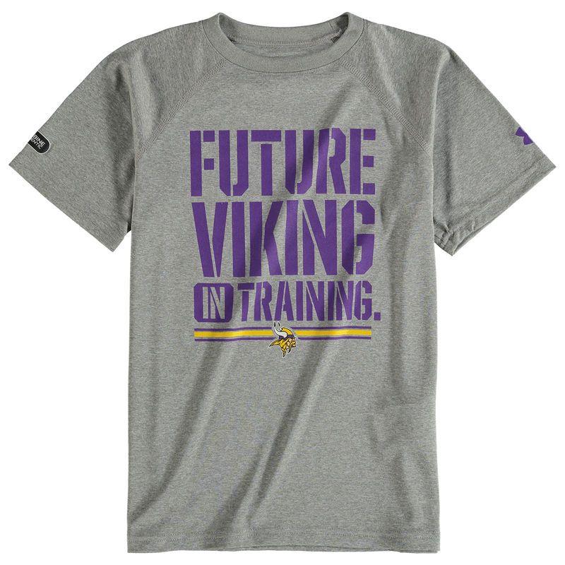 ec0336ea Minnesota Vikings Under Armour Youth NFL Combine Authentic Future Tech  Performance T-Shirt - Gray