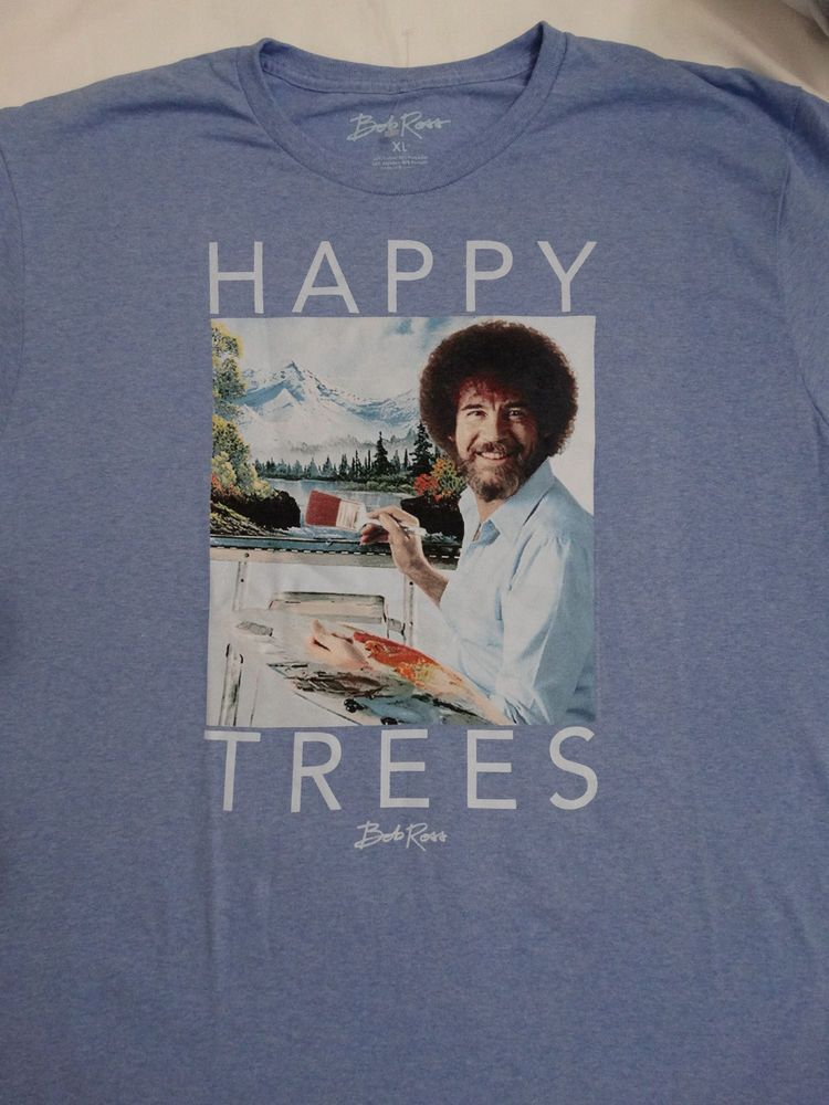 fc4248177d6ae Bob Ross Artist Happy Trees Joy Of Painting T-Shirt  BobRoss  GraphicTee