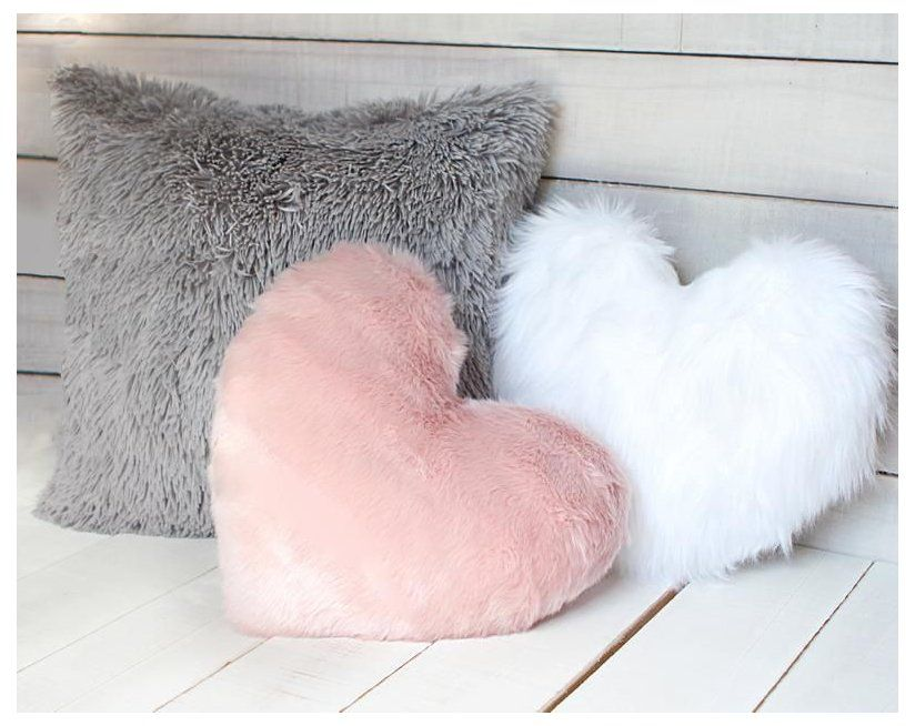 white and pink pillows