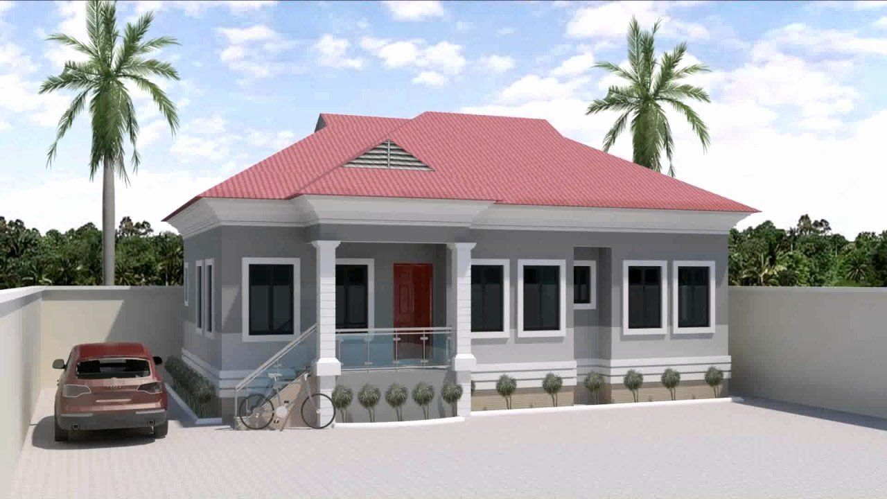 √ 16 4 rooms house plans in 2020 | bungalow house design