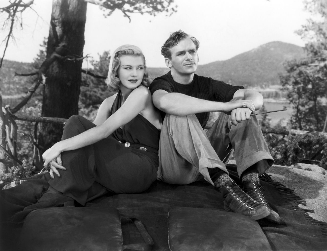 Ginger Rogers and Douglas Fairbanks Jr. in Having Wonderful Time (1938).