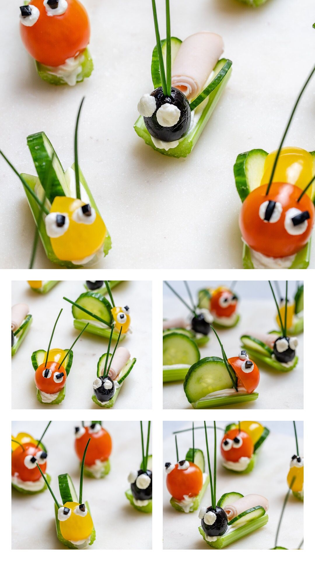 Super FUN Veggie Bug Snacks are PERFECT for Children's Party's or...