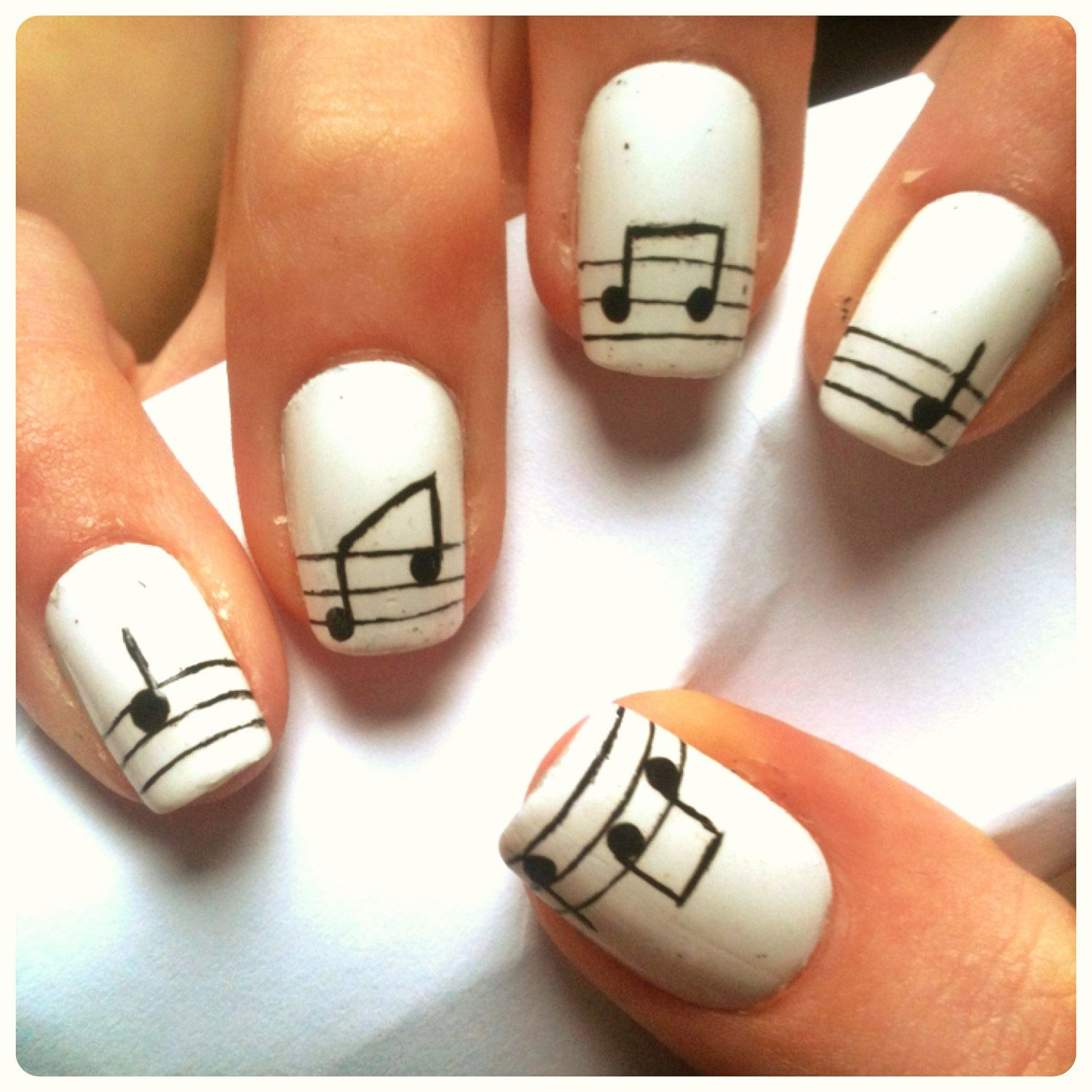 music note nails - Music Note Nails Get On My Body Pinterest Music Note Nails