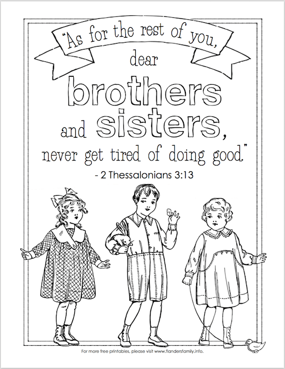 Don T Grow Tired Of Doing Good Free Coloring Page Bible Coloring Pages Coloring Pages Free Coloring Pages