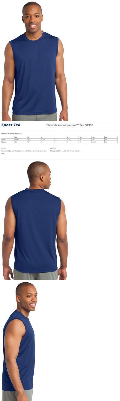 fc43570e Clothing and Accessories 158913: Sport Tek Sleeveless Moisture Dri Fit Wick  Muscle T-Shirts Mens Size S-4Xl St352 -> BUY IT NOW ONLY: $12.93 on eBay!
