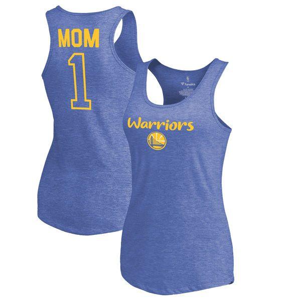 Golden State Warriors Fanatics Branded Women's #1 Mom Tri-Blend Tank Top -  Royal