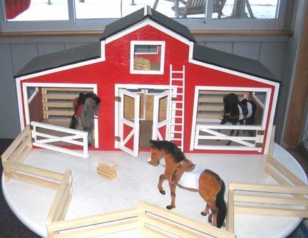 Horse stable woodworking plan kids pinterest for Plans for horse stables