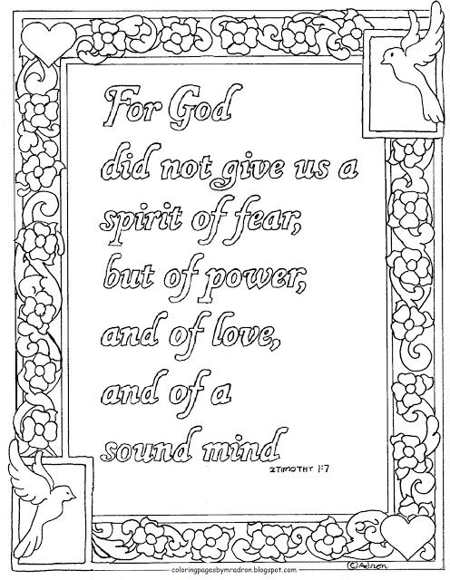 Coloring Pages for Kids by Mr. Adron 2 Timothy 17