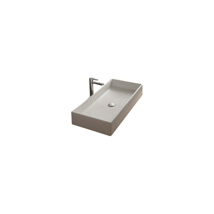 Teorema Ceramic Rectangular Vessel Bathroom Sink Countertops
