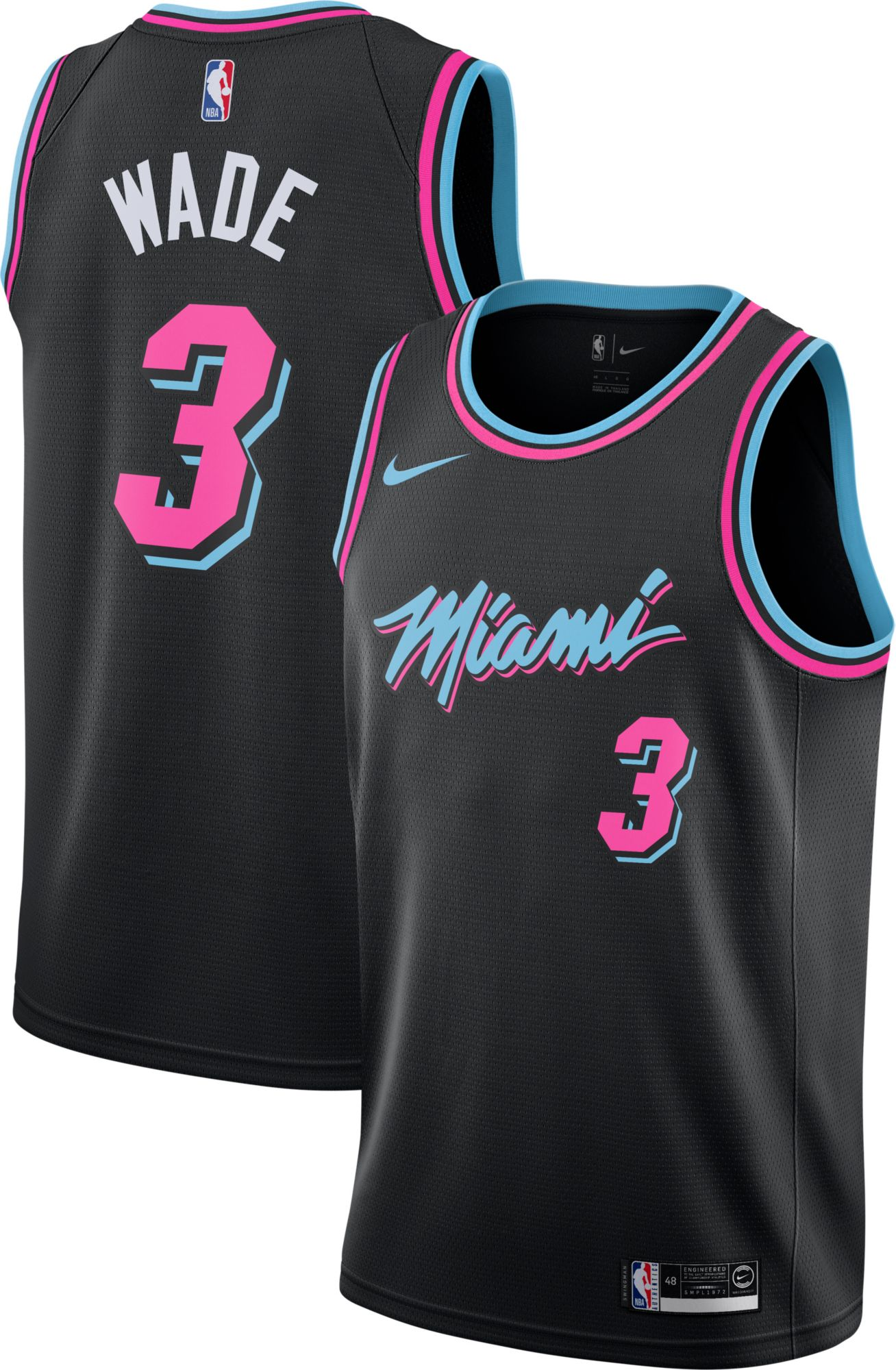 separation shoes 68a58 7dc65 Nike Men's Miami Heat Dwyane Wade Dri-FIT City Edition ...