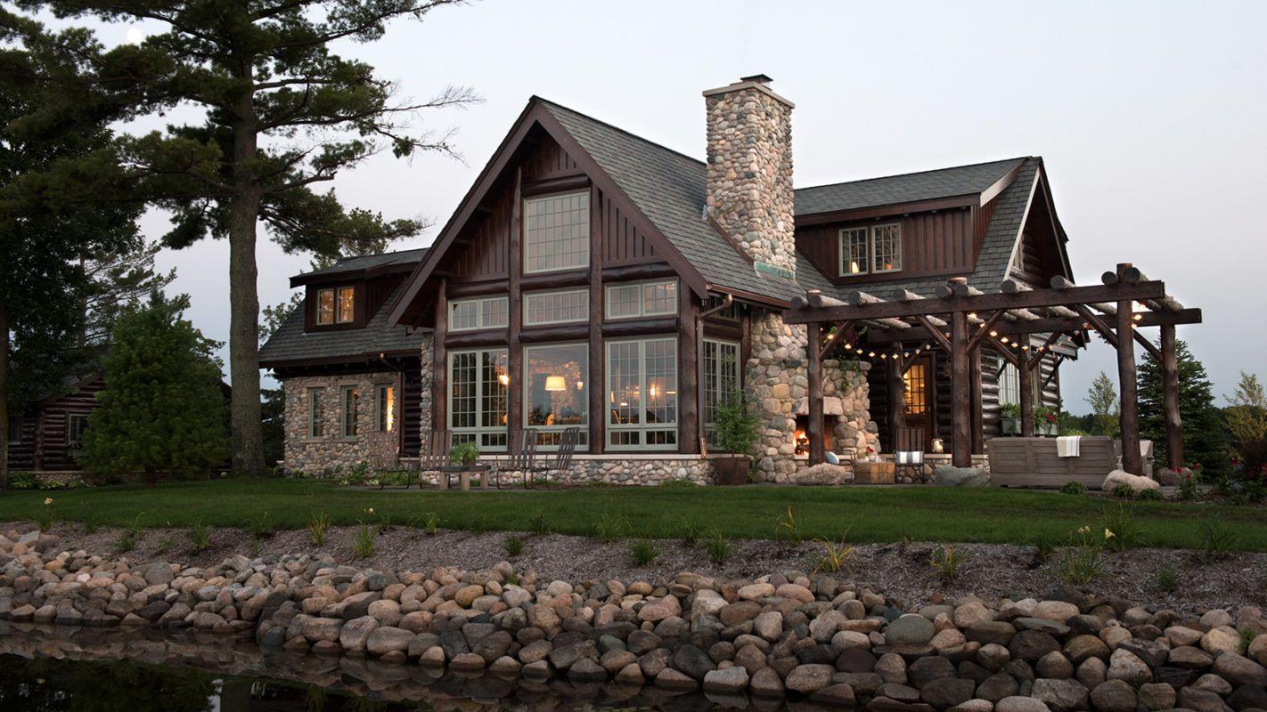 Northern Light Rustic Cabin Lakeside Cabin Rustic Lake Houses