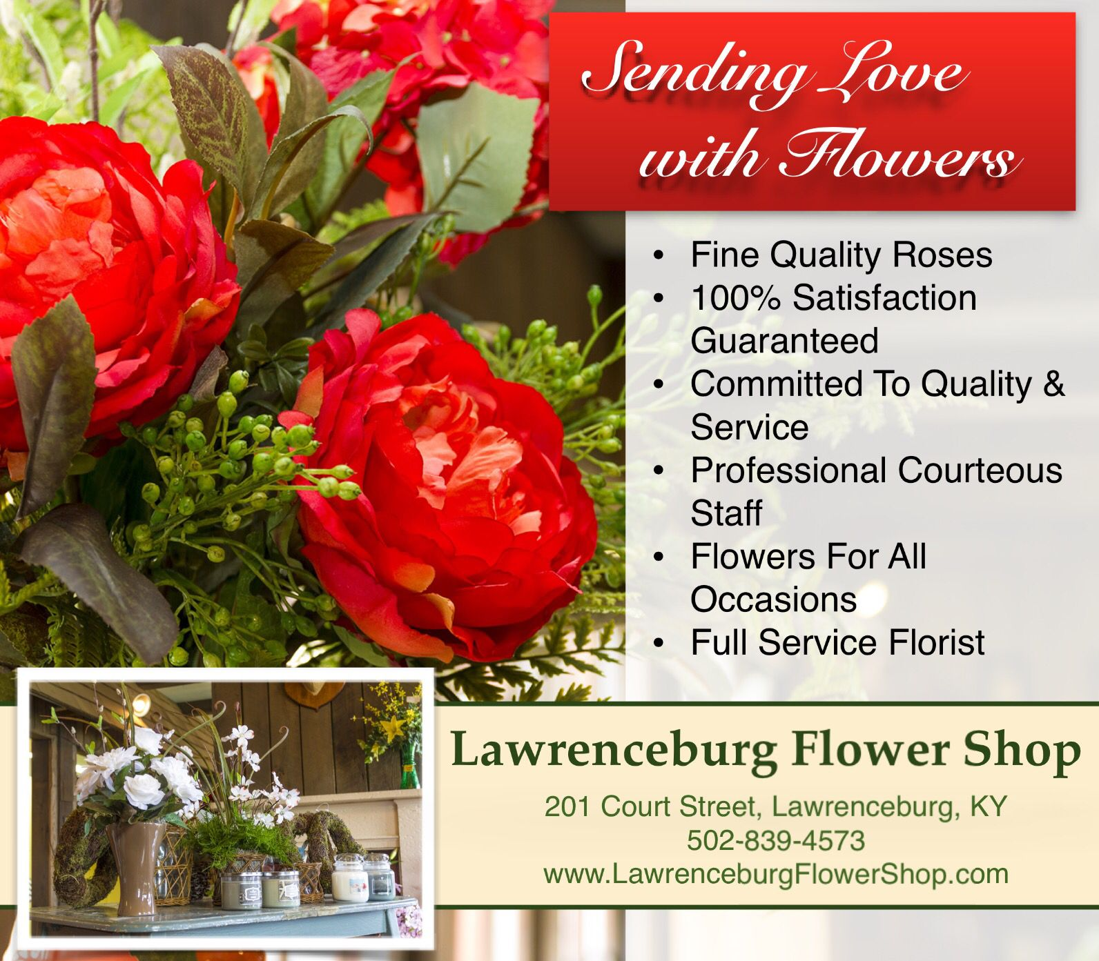 Flowers for all occasions...