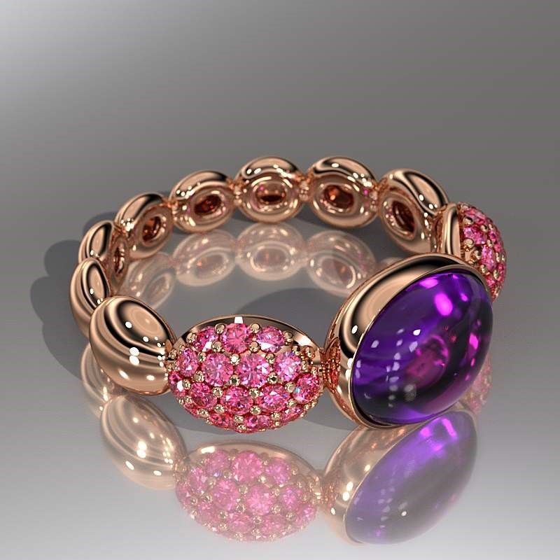 This Rose Gold Ring With Gems Really Brings Out Your Eyes