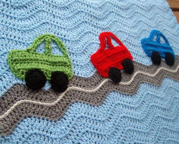 Crochet Race Car Baby Blanket Crochet Baby Blanket Por Puddintoes