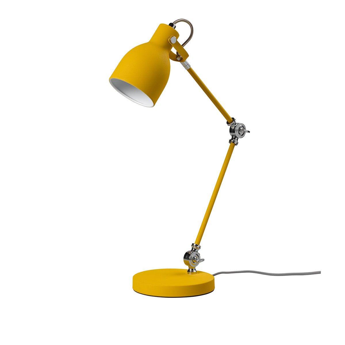Lampe de bureau Task Jaune moutarde La collection de lampes de