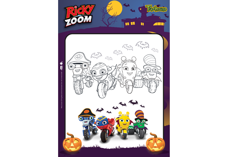 Ricky Zoom Halloween Activities Tema, Aniversario