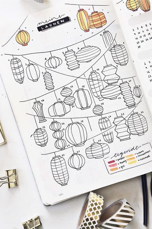 30 Best September Mood Tracker Ideas For Bullet Journals - Crazy Laura #bulletjournaljanvier