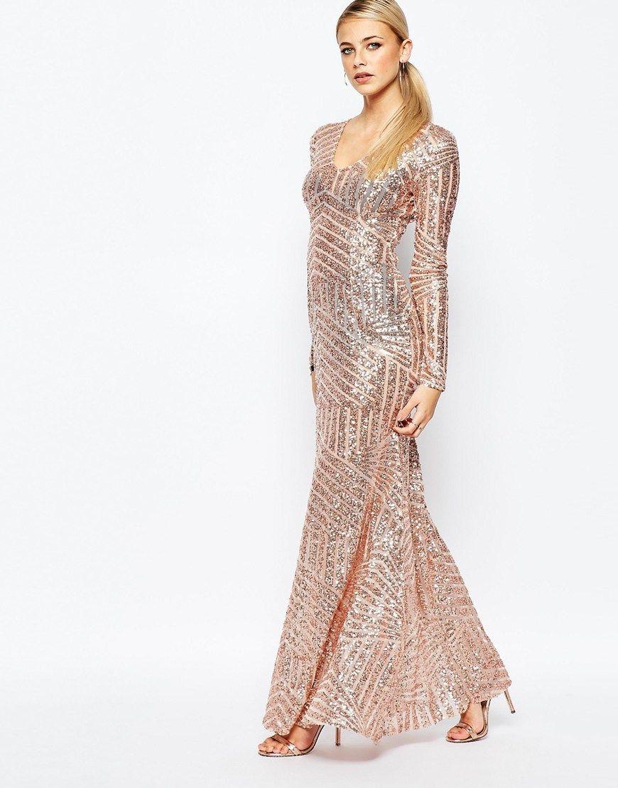 Image 4 - Boohoo - Maxi robe à décolleté plongeant avec empiècements ...