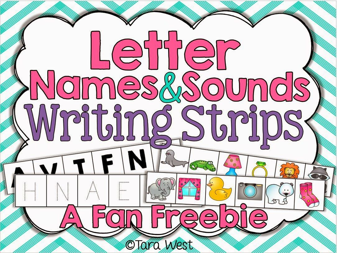 Freebielicious Letter Names Amp Sounds Writing Strips