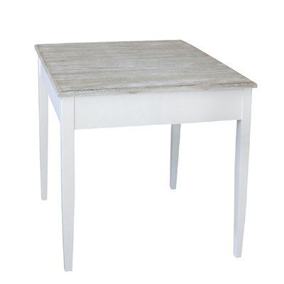 Tisch HARBOUR weiß braun kleiner Esstisch im Hamptons Chic