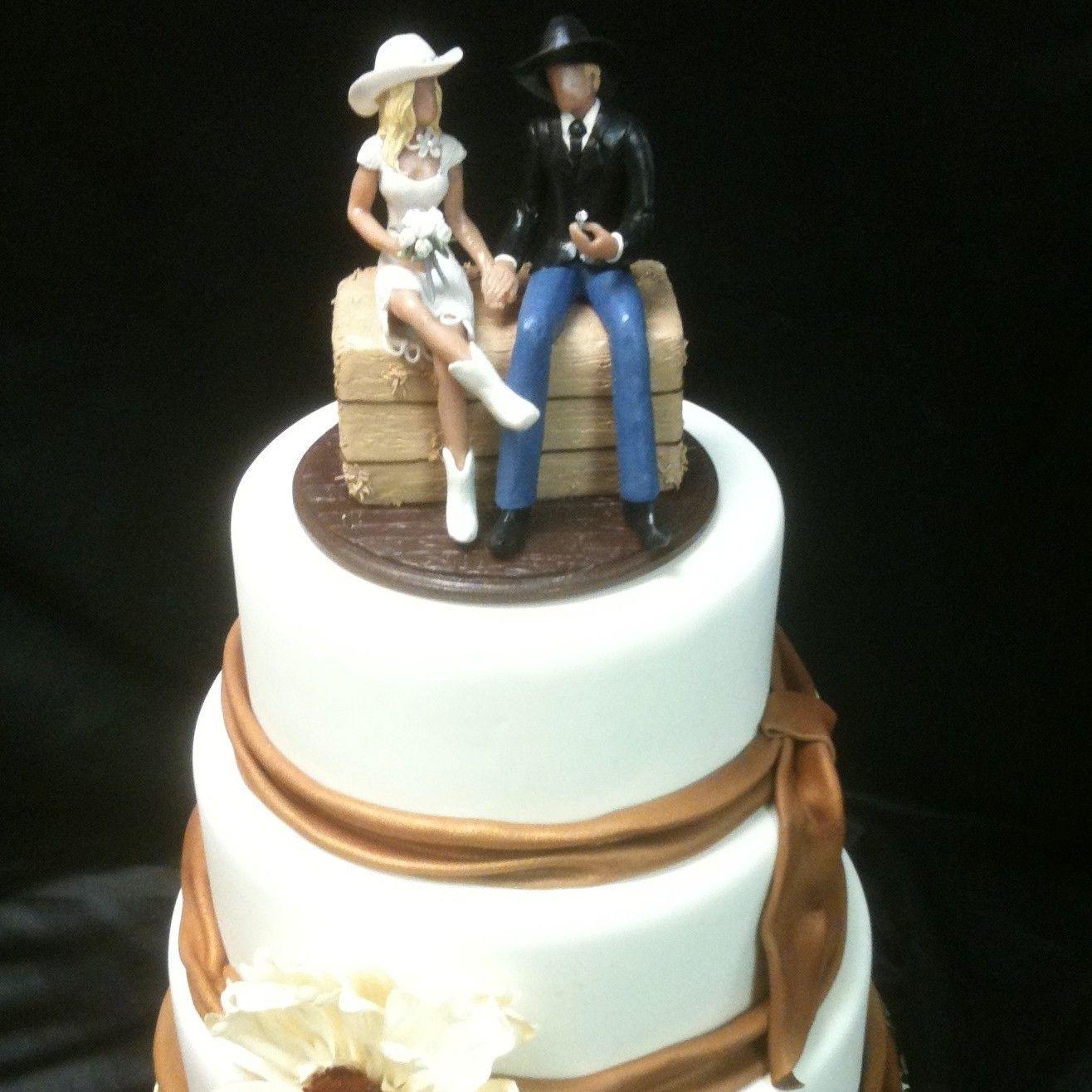 wedding cake topper western bride and groom caketopcreations.com ...