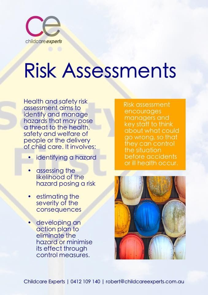 Pin by Jackie Grice on EYLF\/NQF\/MTOP Pinterest Teaching ideas - health safety risk assessment