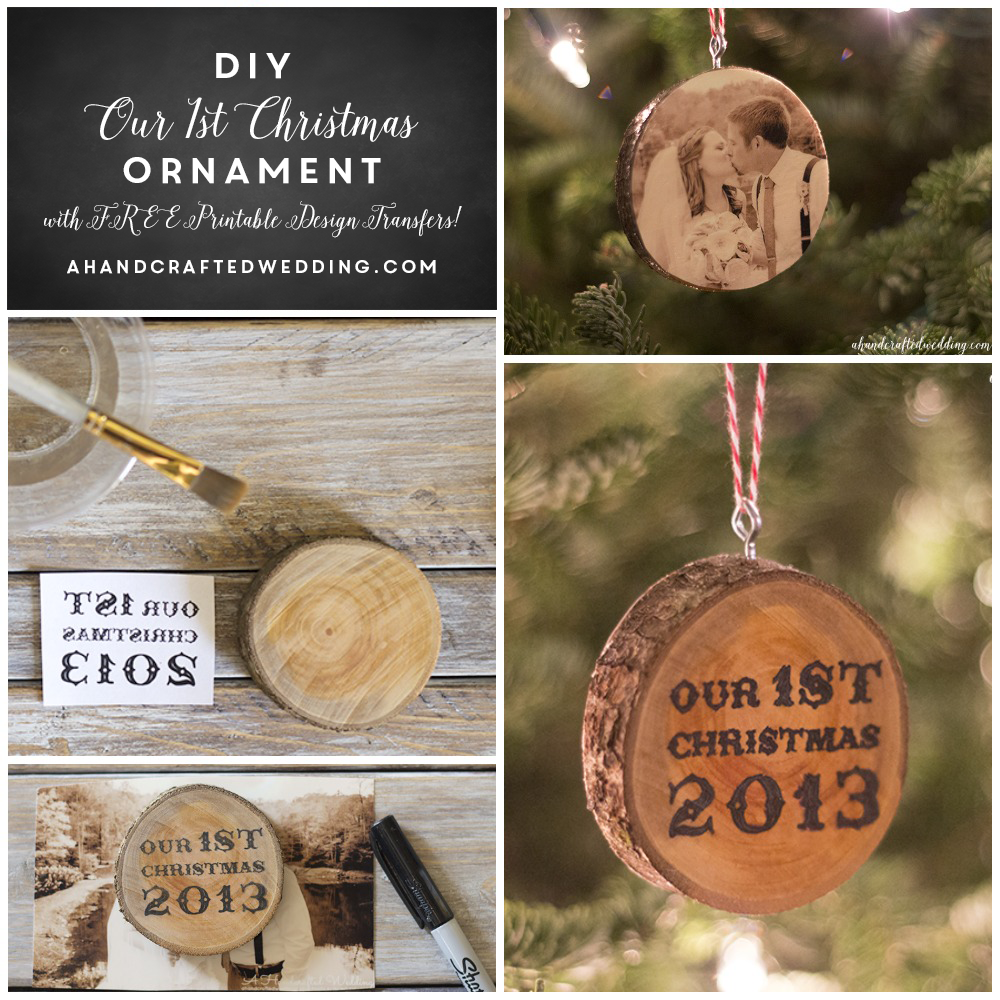 Last minute diy wedding decorations  Cabin Inspired Christmas Ornaments  Christmas ornament Free