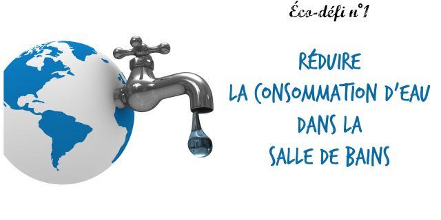 Réduire consommation d'eau salle de bains- 1