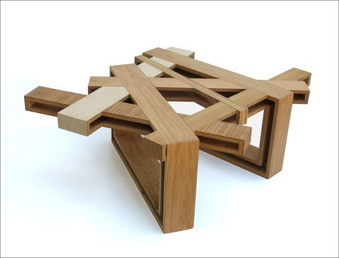 Home Abstract Contemporary Wood Coffee Table By Eli Chissick