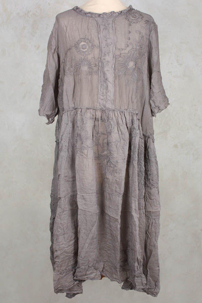 Silk Hadie Mae Brown Dress in Tarnished Silver – Magnolia Pearl