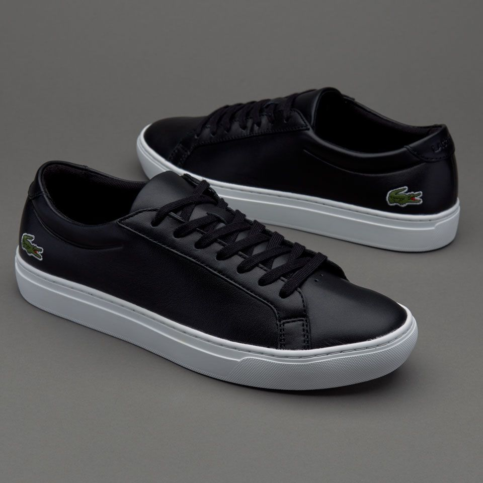quality design 0708e bb72d Lacoste L.12.12 - Black Lacoste Shoes, Leather Fabric, Soft Leather, Polo