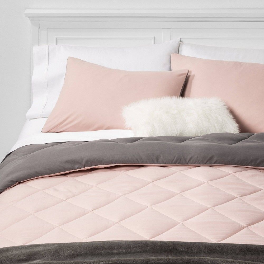 Blush Solid Microfiber Twin Twin Long Bed Set Room Essentials