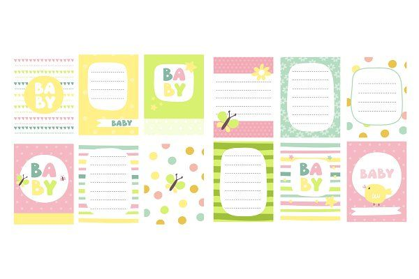 Cute card for baby by dinaizer on @creativemarket