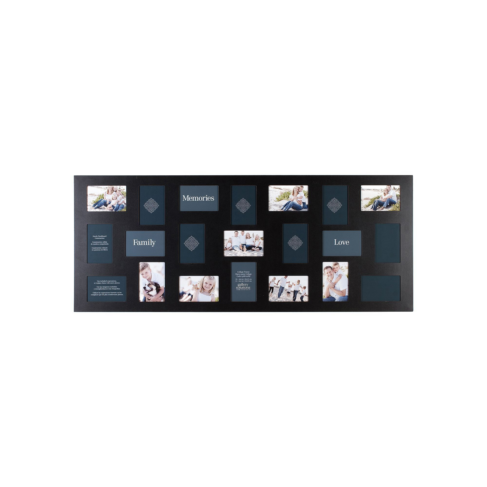 Gallery Solutions 21-Opening Collage Frame, Black | Multiple Frames ...