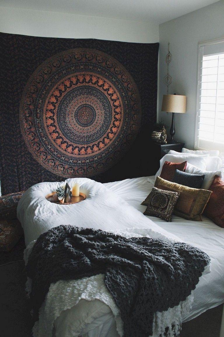 80+ Comfy Elegance Chic Bohemian Bedroom Design Ideas images