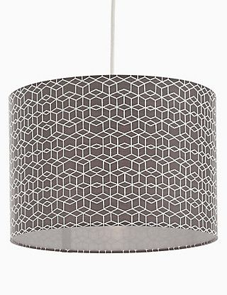 Geometric patterned drums lamp shade ms