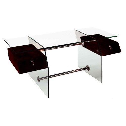 Vitra Glass Top Executive Desk   Jet.com