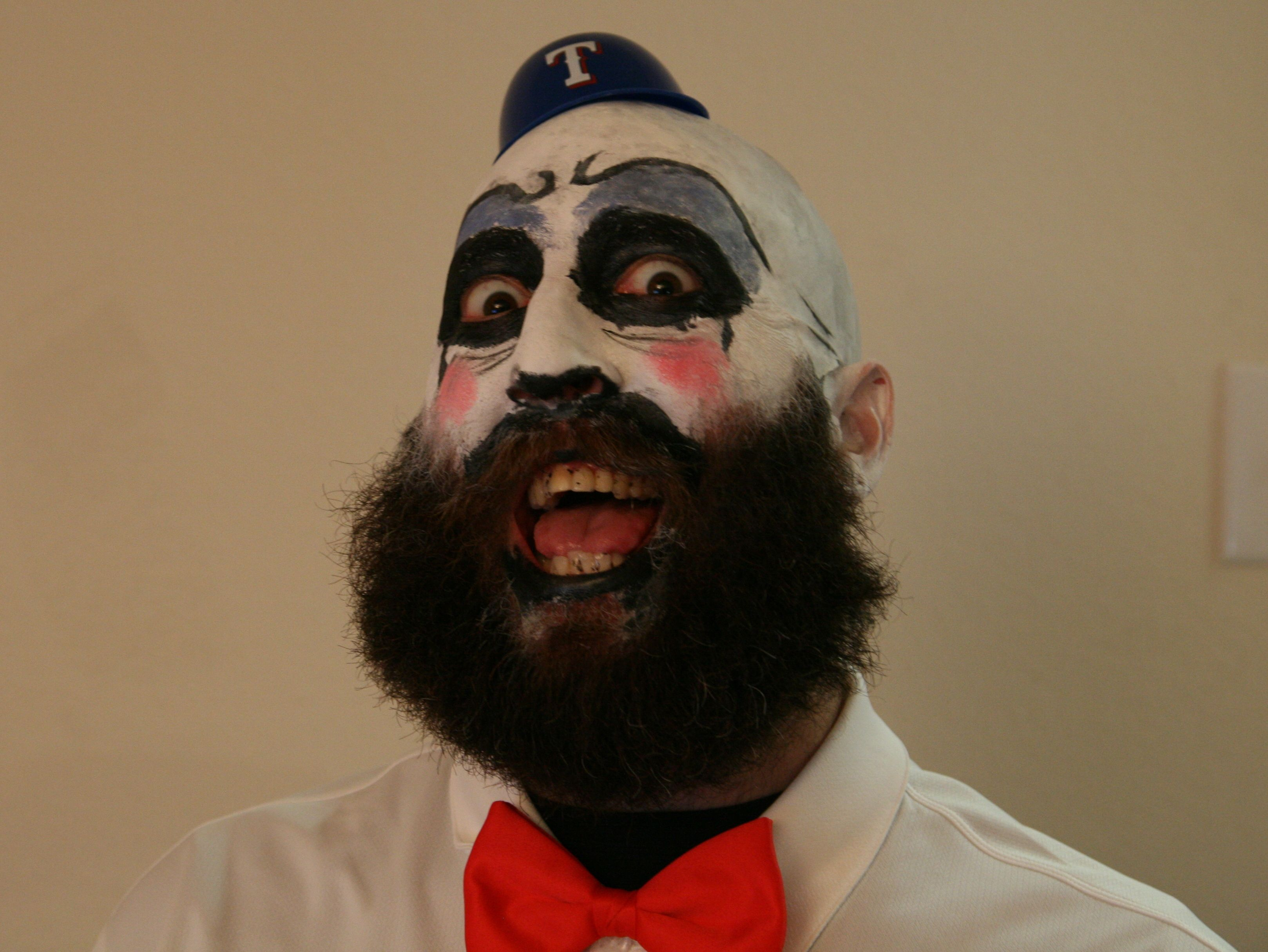 clown makeup with beard