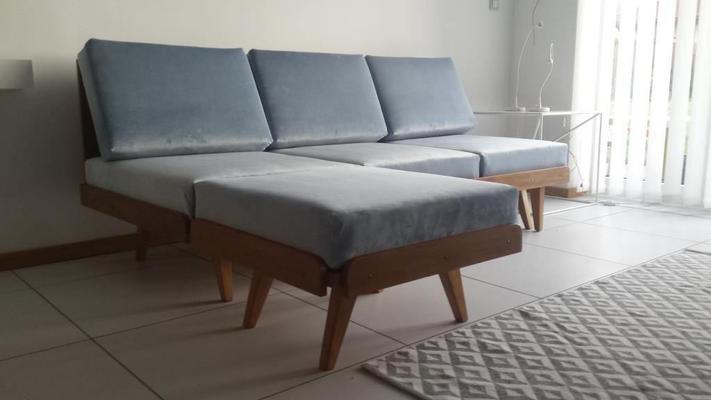sofa, PRL, retro, vintage, lata 60, bauhaus, loft Sofa