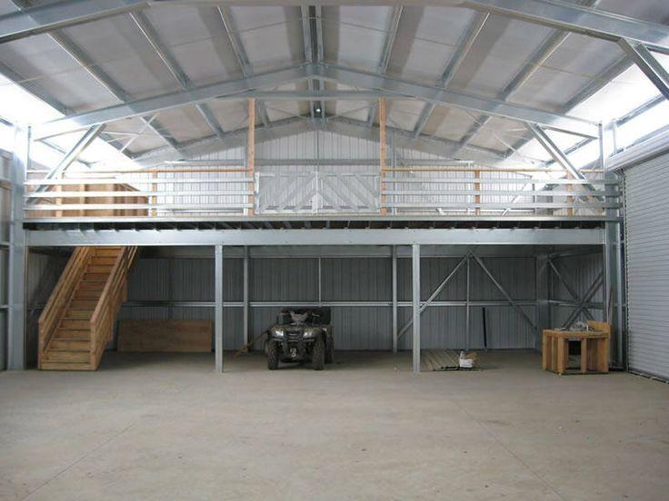 steel building with loft