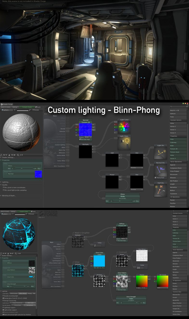 shader forge is a node based shader editor aiming to push the