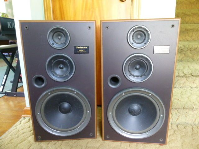 Vintage Technics SB-LX7 Wood Cabinet 3-Way Speaker System Speakers ...