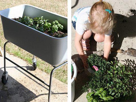 A Portable Herb Garden & Pick Basil | Pretty Prudent | Pretty ...