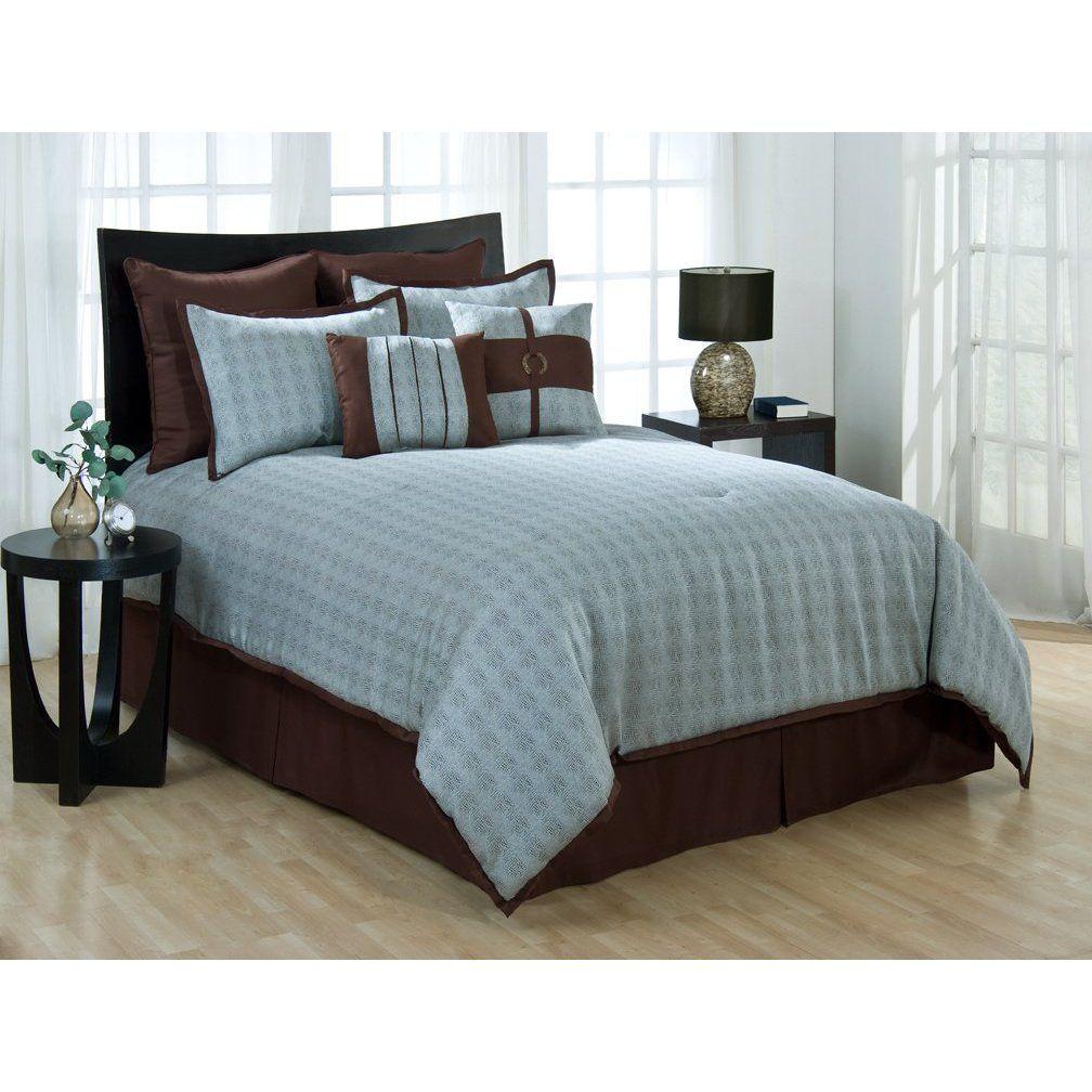 Master bedroom inspiration blue brown and beige Home