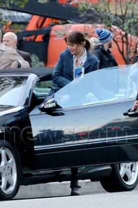 Dakota Johnson In The Car Anastasia Steele